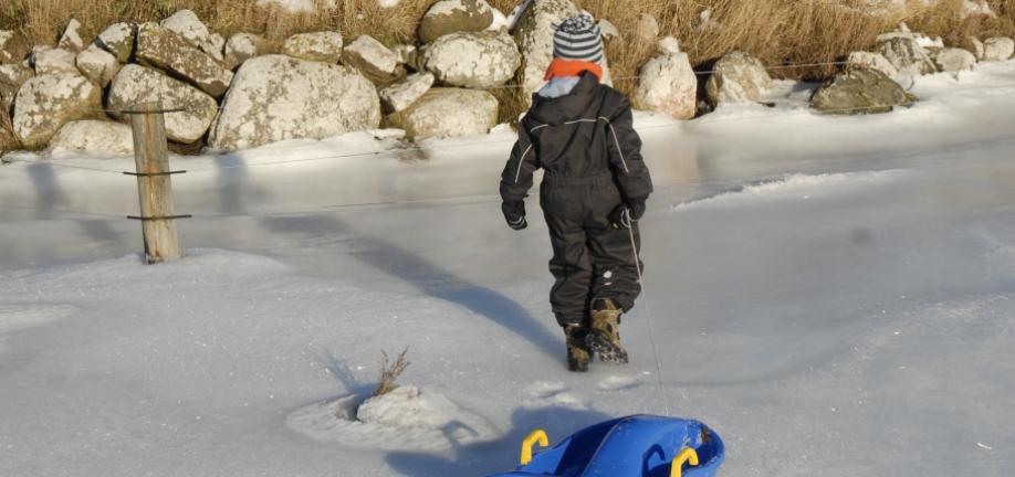 Færdsel på isen