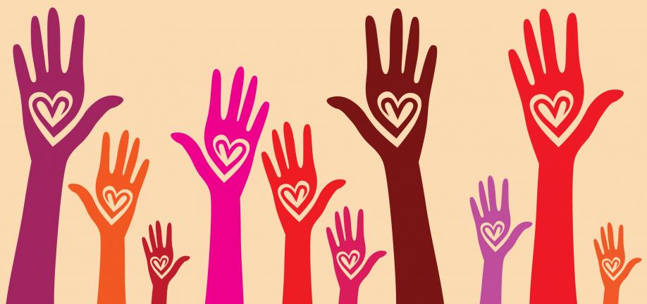 Foto af hjælpende kærlige hænder