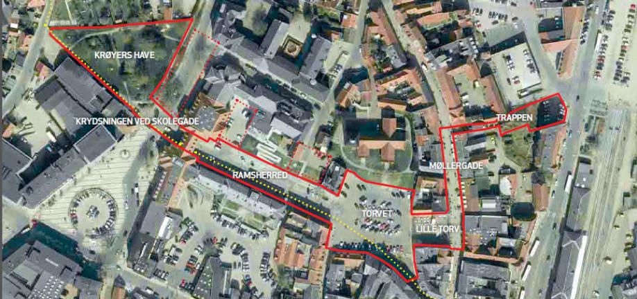 Byrumsforløbet ligger i umiddelbar nærhed til en række af byens vigtige kulturinstitutioner: biograf, svømmehal, teater, kulturhus, rådhus, kirke og ungdomskulturhus.