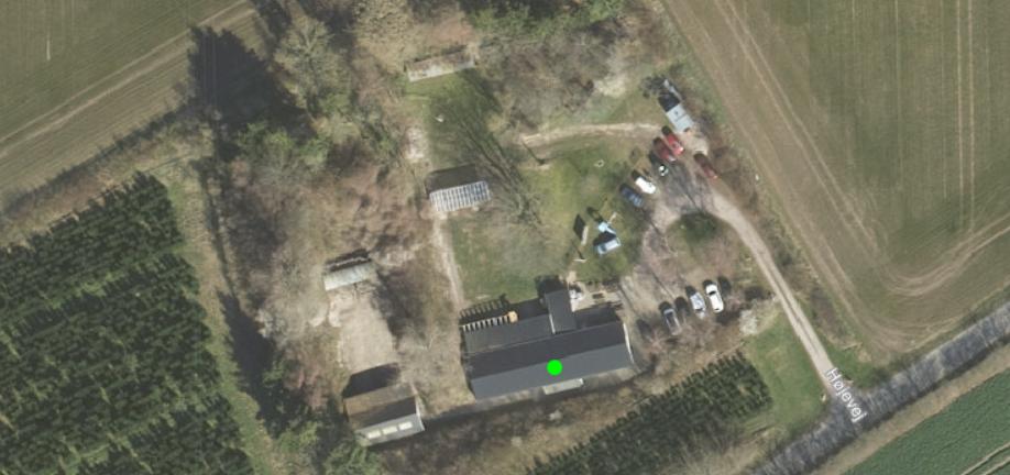 Luftfoto unde Skyttecenter