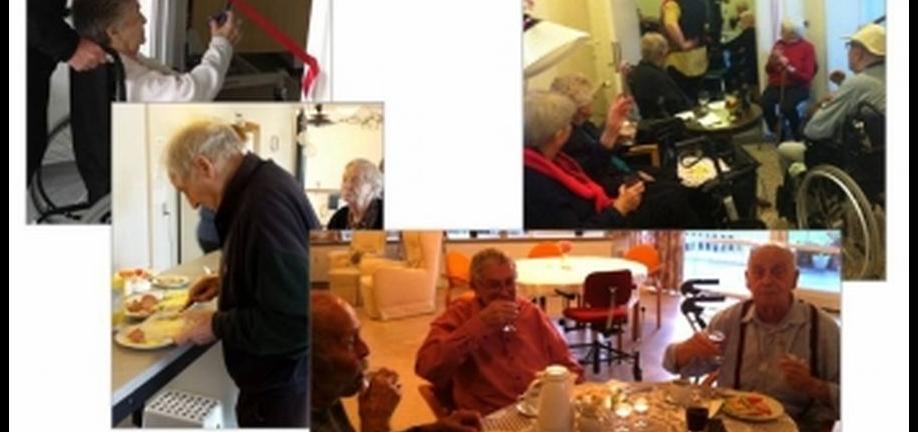 Fotos kollage af ældre borgere