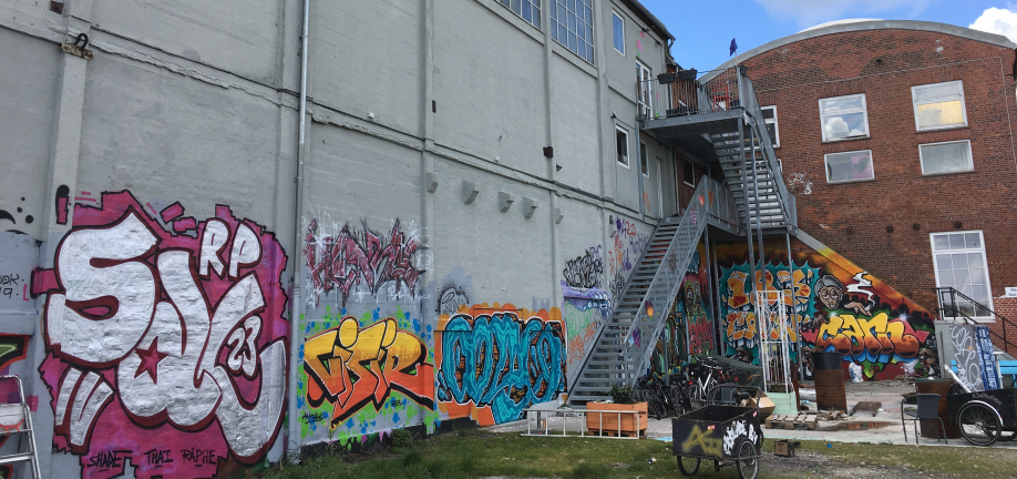Streetart - Ny væg på Frederiksø