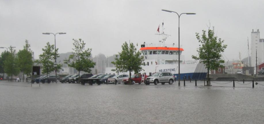 Vand på havnen
