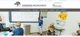 Eksempel på hjemmeside for Svendborg Heldagsskole